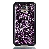 adorehouse per Samsung Galaxy S5 i9600 Copertina Sottile Cristallo Morbido Antiurto Lucido Conchiglia Ultra Magro in Forma Anti-graffio Morbido Copertina TPU Protettivo Flessibile Conchiglia - Viola