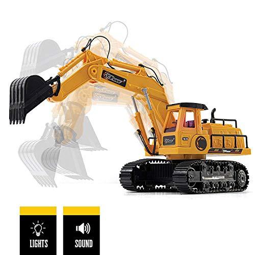 RC Baufahrzeug kaufen Baufahrzeug Bild 1: New Top Race® 7-Kanal voll funktionsfähiger Bagger, elektrischer Bautraktor mit RC Fernbedienung (TR-111)*