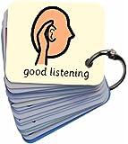 Positive Behaviour Reinforcement 01 Picture Exchange Communication Keyring (AAC / ASD) Visual Aid Resource