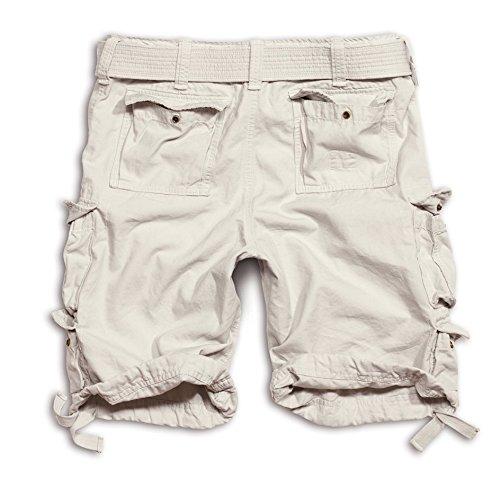 Surplus Division Herren Cargo Shorts Off-White