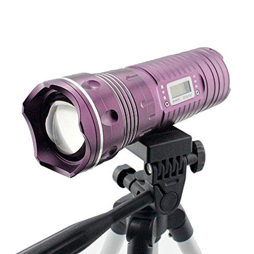 Preisvergleich Produktbild 3000-Lumen-MAIL MANAGER Nacht Fischen-Taschenlampe Blue Light weißes Licht-Fisch-Lampen-Licht mit Stativ-Akku-Ladegerät