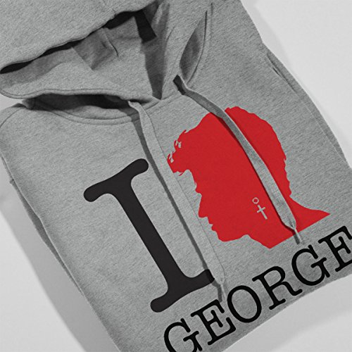 I Heart George Michael Men's Hooded Sweatshirt Heather Grey
