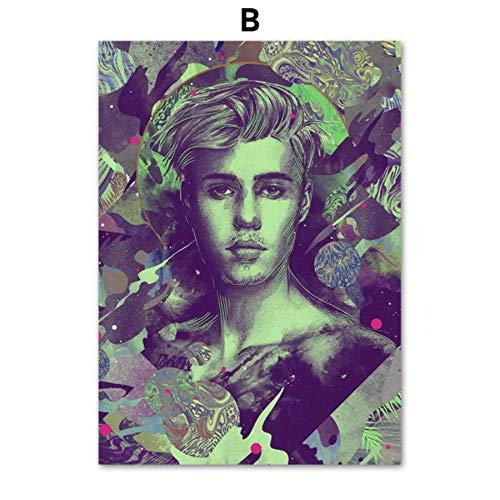 XWArtpic Grammy Award Adele Beyonce Rapper Sänger Sterne Vintage Wandkunst Leinwand Malerei Nordic Poster Und Drucke Wandbilder Für Wohnzimmer Decor B 30 * 40 cm