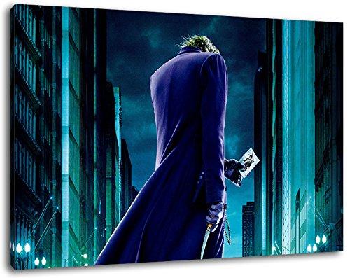 (Batman Format 120x80 cm Bild auf Leinwand, XXL riesige Bilder fertig gerahmt mit Keilrahmen, Kunstdruck auf Wandbild mit Rahmen)