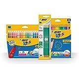 BIC Spécial Rentrée des Classes Pack de Coloriage de 18 Feutres/18 Crayons de couleur/8 Crayons graphites