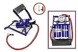 Vetrineinrete® Pompa pedale gonfiatore doppio cilindro con manometro gonfiaggio di pneumatici auto moto bici materassini palloni gonfiabili E34
