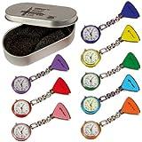 Tiga Med relojes 8er Set (=de 8 cada colour 1 x) tipo clip 1 de mano para enfermería Tiga-Med