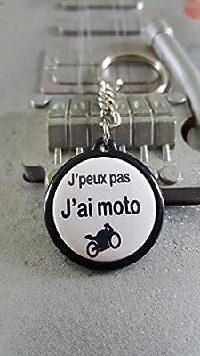 Porte Clé J'peux pas J'ai Moto