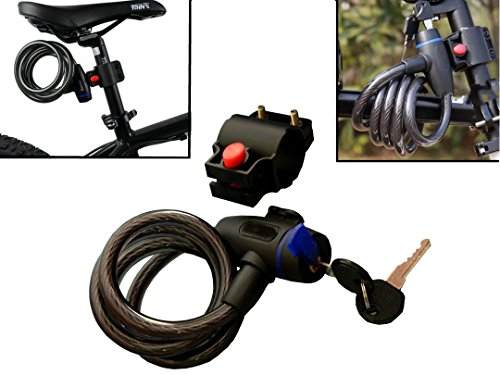 WINTECH Cable Key Lock For Bike Cycle Helmet Luggage