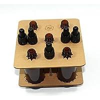 Bee Beautiful Glasflasche mit transparenter Glaspipette, bernsteinfarben, 100ml preisvergleich bei billige-tabletten.eu