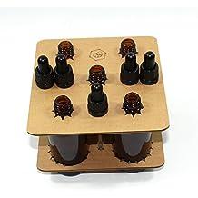 Bee Beautiful - Frasco de vidrio ámbar, 100 ml, con pipeta cuentagotas, color