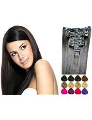 10pièces Clip en Extensions de cheveux en cheveux Extension Cheveux Partie Plusieurs couleurs 100g