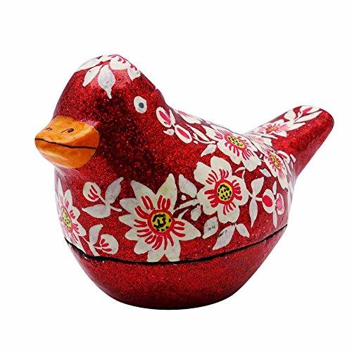 Banithani Vogelschmuckstück Schmuckschatulle Handbemalte Kaschmir Kunstdruckpapier Pappmaché Geschenk Für Sie