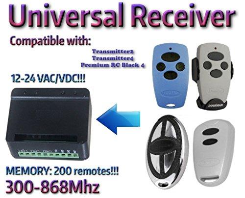 Universal-Receptor-de-2-canales-Rolling-Cdigo-fijo-300-mhz-868mhz-12--24-VACDC-Compatible-con-DoorHan-transmisor-2DoorHan-transmisor-4DoorHan-Premium-RC-Negro-4-mandos-a-distancia