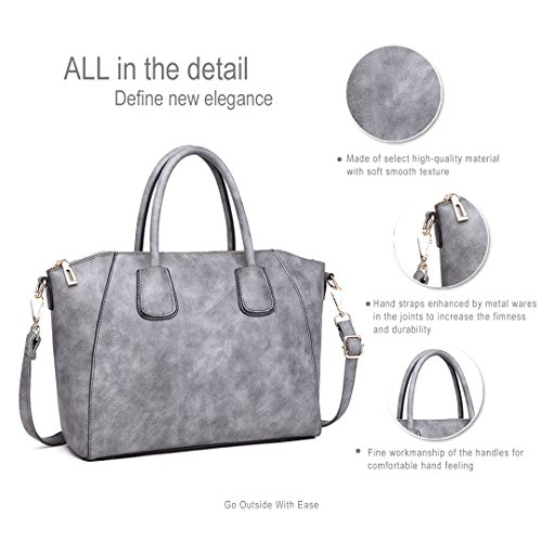 Miss Lulu ,  Damen Mädchen Tasche 1723 Grey