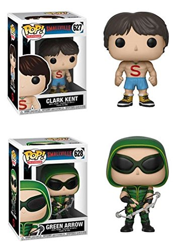 FunkoPOP Smallville Clark Kent Shirtless Green Arrow Stylized TV Vinyl Figure Bundle Set NEW