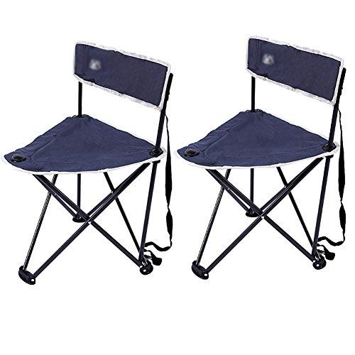 ZCJB Outdoor Klappstuhl Ultraleicht Tragbare Rückenlehne Stuhl Skizze Stuhl Angeln Stuhl Strand Stuhl EIN Paar Stühle (Farbe : Blue Gray)