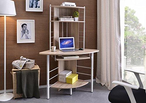 Scrivania Ufficio Porta Pc : Sixbros office scrivania ufficio porta pc angolare quercia