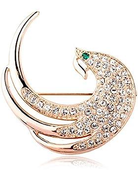 Forma FZHLYElegant Lady Diamond De La Broche De Pavo Real Para Ocasiones Formales
