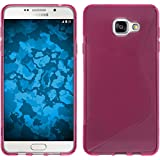 Coque en Silicone pour Samsung Galaxy A5 (2016) A510 - S-Style rose chaud - Cover PhoneNatic Cubierta + films de protection