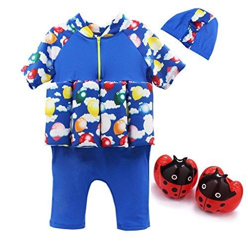 Vine Bojen-Schwimmanzug für Jungen mit integriertem Auftrieb zum Schwimmen lernen - für Kinder von 2-5Jahren.