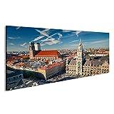 islandburner Bild Bilder auf Leinwand Luftaufnahme von München Wandbild Leinwandbild Poster