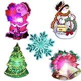 5x Weihnachtsmann/Baum Glocke Schneemann LED HAIR CLIP Haarreif leuchtend Deko