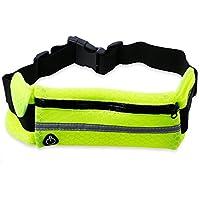 XU-XIAZHI,Deportes al Aire Libre Bolsa de Correr Transpirable Bolsa de maratón a Prueba de robos(Color:Verde NEÓN)