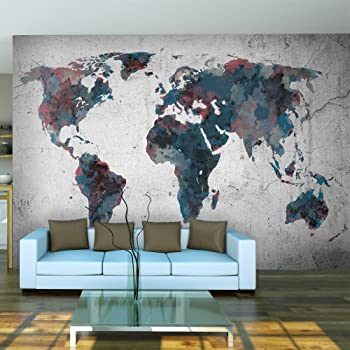 papier peint photo mappemonde motif vintage retro image murale xxl du mappemonde. Black Bedroom Furniture Sets. Home Design Ideas