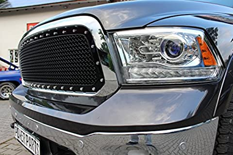 En D One Black/Chrome Calandre Noir/chromé brillant Dodge Ram 1500 modèles : 13–17