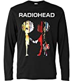 Photo de LaMAGLIERIA T-Shirt Manches Longues Homme - Radiohead - The Best of Logo - Long Sleeve 100% Coton par LaMAGLIERIA