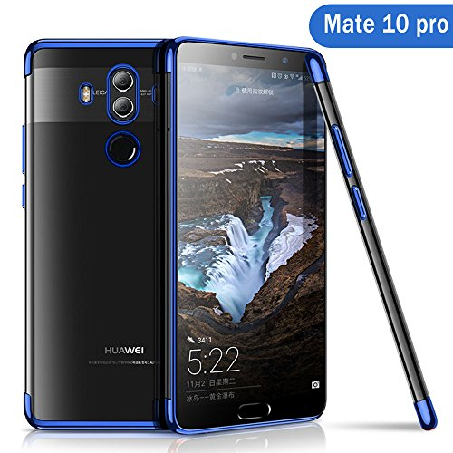 Huawei Mate 10 Pro Hülle, AOLANDER Huawei Mate 10 Pro Handyhülle TPU Case Cover, Leicht Flexible Rugged Armor Hybrid Defender Shockproof Schutzhülle für Huawei Mate 10 Pro (Blau)