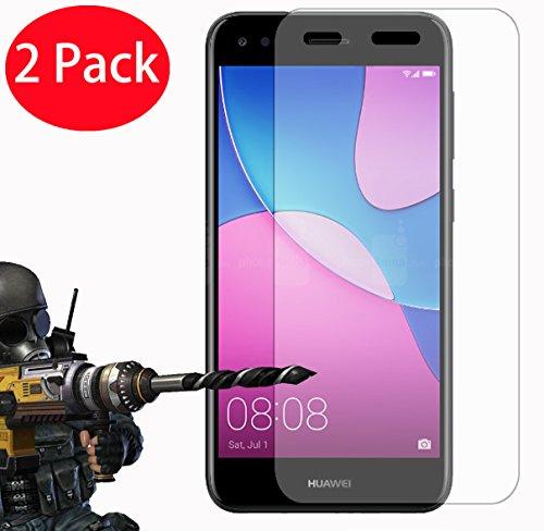 FoneExpert® 2 Pack - Huawei P9 Lite Mini Panzerglas, Gehärtetem Schutzfolie Glasfolie Hartglas Panzerfolie Bildschirmschutzfolie für Huawei P9 Lite Mini