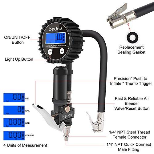 bedee-pneumatici-manometro-per-pneumatici-pompa-con-luce-LED-soffiaggio-aria-manometro-elettrico-portatile-pompa-GonfiatoreDeflatore-200-PSI-ad-alta-precisione-per-auto-camion-moto