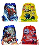 SR GIFTS Pack Of 12 Cartoon Printed Haversack Bag For Kids Birthday Party Return Gift(Boys)
