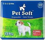 Pet Soft Einweg-Windeln für Hunde, für Männer, super saugfähig, weiche Haustierwindeln, XS/S/M