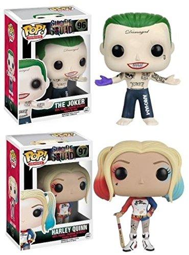 funko pop suicide squad Funko POP! Suicide Squad: Harley Quinn & The Joker - Vinyl Figure Set NEW