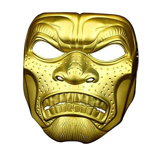Maskerade,Halloween Film und Fernsehen Thema Horror Maske Schädel Kopf Erwachsenen Maske Spartan 300 Krieger Outdoor-Maske Gold Masquerade