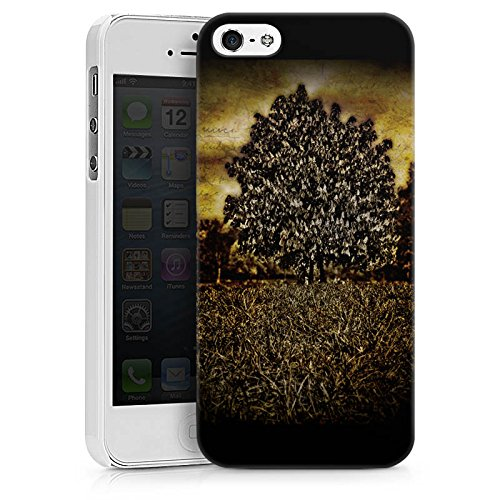 Apple iPhone X Silikon Hülle Case Schutzhülle Baum Mystik Wald Hard Case weiß