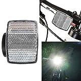 OHQ Fahrradbeleuchtung Fahrrad Fahrrad Vorne Hinten Warnung Lenkerhalterung Sicher Reflektor (Weiß)