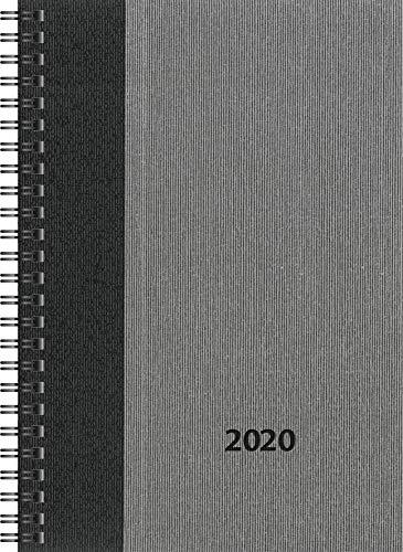 rido/idé 7021843 Buchkalender Timing 1 (2 Seiten = 1 Woche, 148 x 210 mm, Balacron-Einband Business Class, Kalendarium 2020) grau -