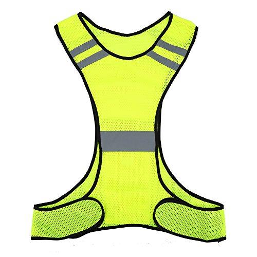 Warnweste Weste Jacke Reflektierend, dünn und atmungsaktiv Hohe Sichtbarkeit, für die Ausführung Motorrad Fahrrad Fahrrad Radfahren Laufen, Joggen und Arbeitnehmer