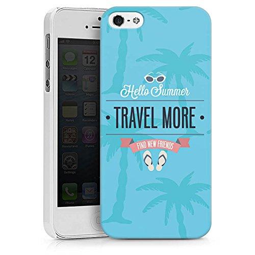 Apple iPhone X Silikon Hülle Case Schutzhülle Sommer Reisen Urlaub Hard Case weiß