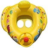 LCLrute 2018 Mode Cartoon Lenkrad Schwimmen Kreis Float Sitz Boot Baby Ring Pool Schwimmen aufblasbare Schwimmen Safe Floß Kind Wasser Auto (Mehrfarben)