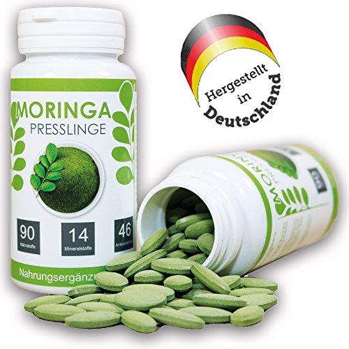 Moringa Presslinge (180 Stück) | 420mg Moringablattpulver / Moringa oleifera pro Tablette / Kapsel | VEGAN (420 Tee)