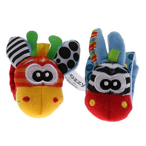 Magideal Cute Wrist Rattles Educational Soft Infant Baby Toy Giraffe
