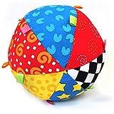 Softball Baby Activity Ball bunt Stoff Babyball Spielball, Babyspielzeug Hand glocken ball Neugeborenes Bett Bunter Stoffball