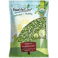 Food to Live Guisantes verdes Bio certificados de la fractura (Eco, Ecológico, kosher, Non-GMO, a granel) (10 libras)