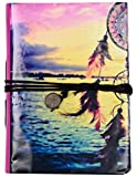 #10: MultiZone Scenic Dream Catcher Journal Diary Notebook with Thread Wrap Closure, 5 x 7 inches, 96 Unlined Sides