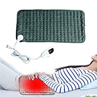 Heated Blanket, Heat Blanket Electric Blanket with 3 Hours Auto off Washable for Car Lap Foot Warmer Warm Up Warm Stomach Warm Waist Bed Leg Warmer,60x30cm-Green